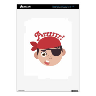 Arrrrr Pirate Decal For iPad 3
