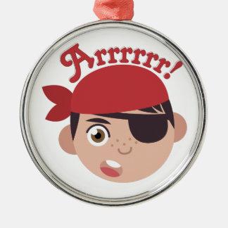 Arrrrr Pirate Metal Ornament