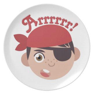 Arrrrr Pirate Plate