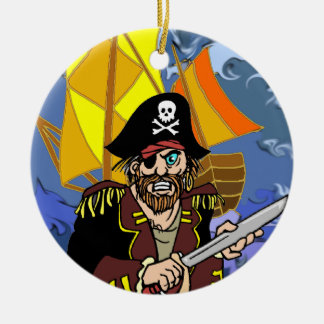 Arrrrr Talk like a pirate day Double-Sided Ceramic Round Christmas Ornament