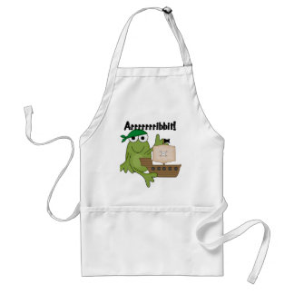 Arrrrrrribbit Frog Pirate Tshirts and Gifts Adult Apron