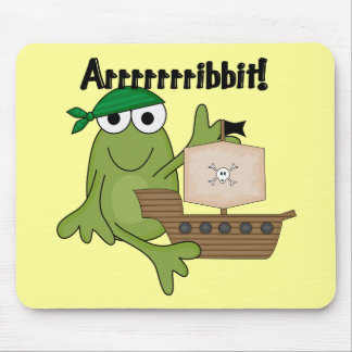 Arrrrrrribbit Frog Pirate Tshirts and Gifts Mouse Pad