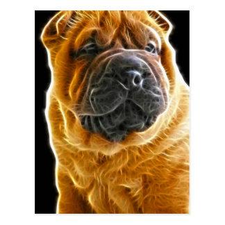 Arrugas, el perro de perrito chino de Shar Pei Postal