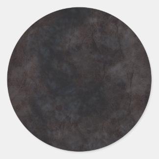 Arrugas negras pegatina redonda