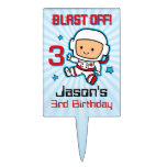 Arruine apagado el 3ro cumpleaños figuras de tarta
