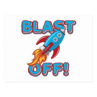 Arruine apagado la nave de Rocket Tarjetas Postales