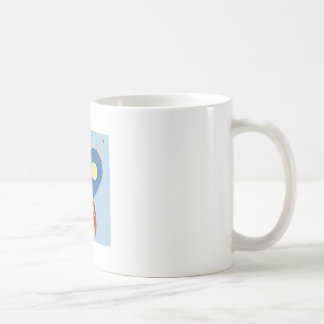 Arruine apagado taza