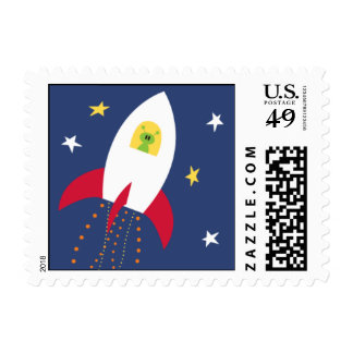 Arruine apagado timbres postales