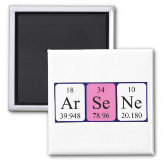 Arsène periodic table name magnet