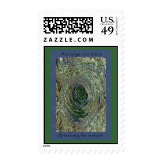 Ars Longa, Vita Brevis Postage Stamp