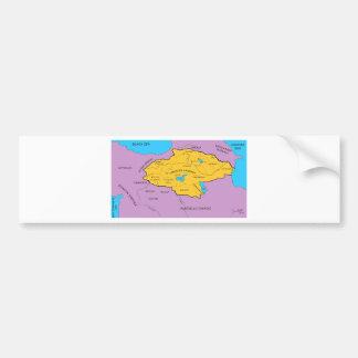 Arsacid / Arshakuni Dynasty Map Car Bumper Sticker