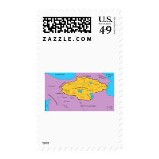 Arsacid / Arshakuni Dynasty Map Postage Stamp