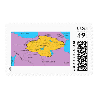 Arsacid / Arshakuni Dynasty Map Postage