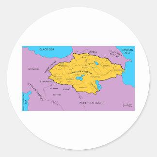 Arsacid / Arshakuni Dynasty Map Round Sticker