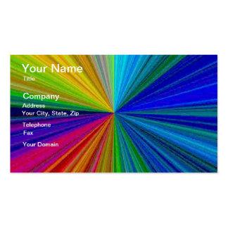 Arsenal circular 1 del arco iris del color tarjetas de visita