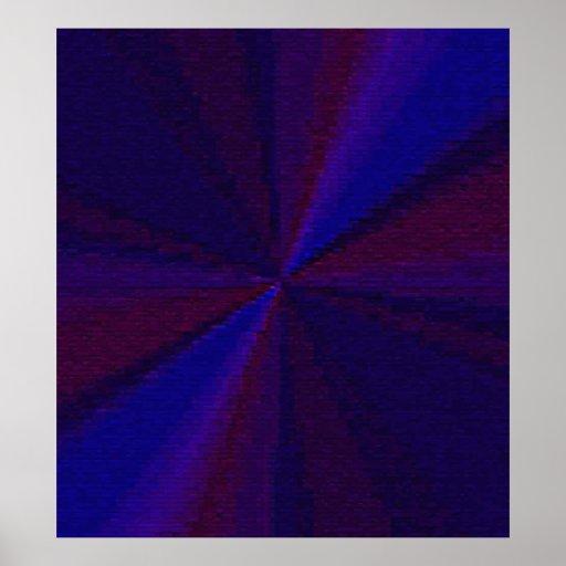 Arsenal circular azul y púrpura 1 del remiendo posters