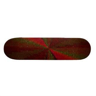 Arsenal circular rojo y verde del remiendo tablas de patinar