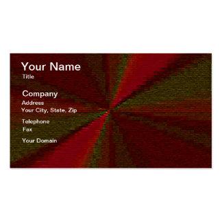 Arsenal circular rojo y verde del remiendo tarjetas de visita