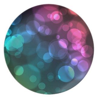Arsenal colorido de los círculos plato para fiesta