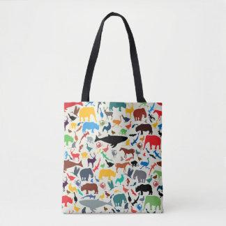 Arsenal de animales ilustrados bolsa de tela
