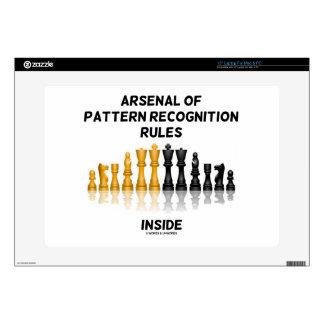 Arsenal de las reglas del reconocimiento de portátil 38,1cm skins