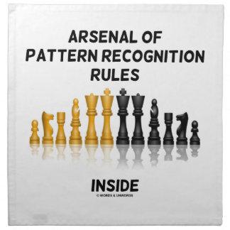 Arsenal de las reglas del reconocimiento de servilletas imprimidas
