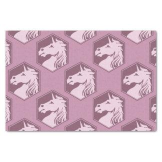 Arsenal del unicornio del rosa de color de malva y papel de seda pequeño