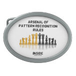 Arsenal Of Pattern Recognition Rules Inside Oval Belt Buckles