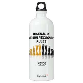 Arsenal Of Pattern Recognition Rules Inside Chess Aluminum Water Bottle