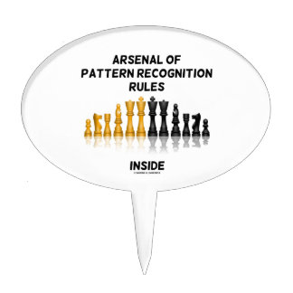 Arsenal Of Pattern Recognition Rules Inside Chess Cake Topper
