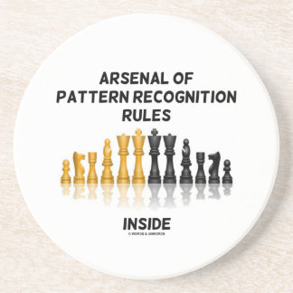Arsenal Of Pattern Recognition Rules Inside Chess Coasters