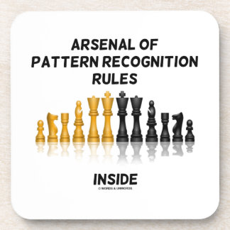 Arsenal Of Pattern Recognition Rules Inside Chess Drink Coaster