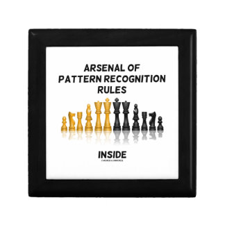 Arsenal Of Pattern Recognition Rules Inside Chess Gift Boxes