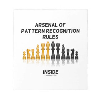 Arsenal Of Pattern Recognition Rules Inside Chess Memo Note Pad