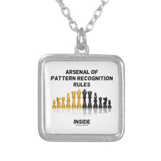 Arsenal Of Pattern Recognition Rules Inside Chess Square Pendant Necklace