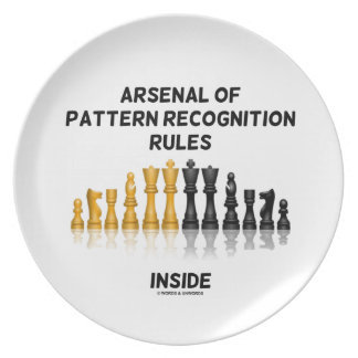 Arsenal Of Pattern Recognition Rules Inside Chess Party Plate