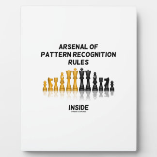 Arsenal Of Pattern Recognition Rules Inside Chess Plaques