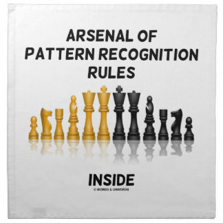 Arsenal Of Pattern Recognition Rules Inside Chess Printed Napkins