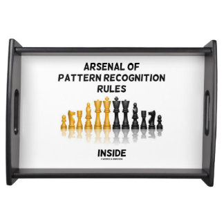 Arsenal Of Pattern Recognition Rules Inside Chess Serving Tray