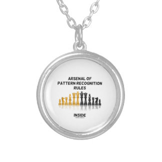 Arsenal Of Pattern Recognition Rules Inside Chess Silver Plated Necklace