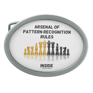 Arsenal Of Pattern Recognition Rules Inside Oval Belt Buckle