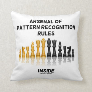 Arsenal Of Pattern Recognition Rules Inside Throw Pillow