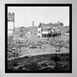 Arsenal Ruins in Richmond, VA 1865 Poster