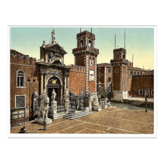 Arsenal, Venice, Italy vintage Photochrom Postcard