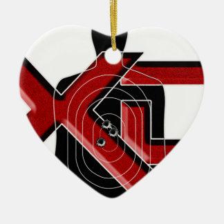 Arsenal XD de Springfield Adorno Navideño De Cerámica En Forma De Corazón