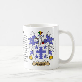 Arsenault, the Origin, the Meaning and the Crest Coffee Mug