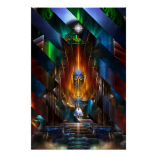 Arsencia Golden Goddess Razor Cut Archival Poster