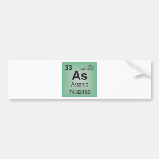 Arsenic Individual Element from Periodic Table Bumper Sticker