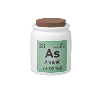 Arsenic Individual Element from Periodic Table Candy Dishes