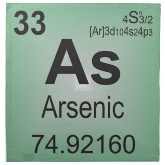 Arsenic Individual Element from Periodic Table Cloth Napkin